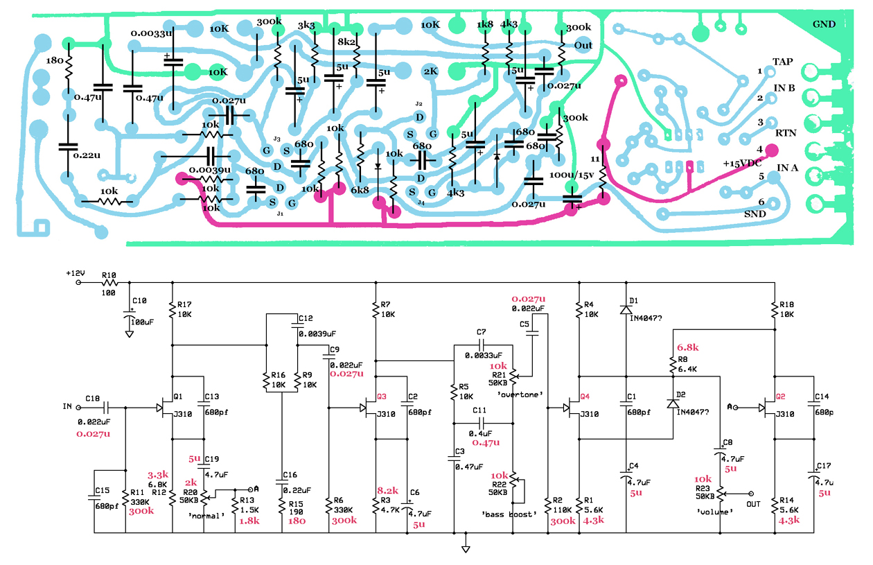 Rhodes Stage Dyno Piano And Tri Tremelo Circuit Diagram Preamp As For The Unfortunately I Havent Seen A Schematic Of One